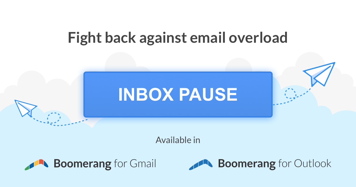 inbox pause fight back against email overload